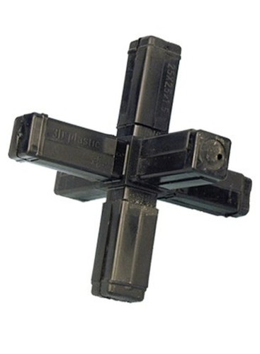 6455 cross-piece with 2 outlets / star / with steel core