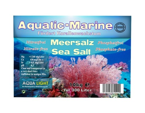 72 pieces AQUA LIGHT aquatic marine sea salt 10 kg