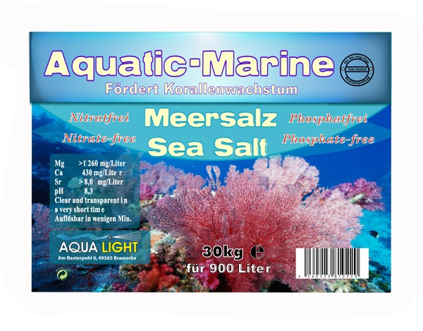 24 pieces AQUA LIGHT aquatic marine sea salt 30 kg