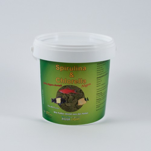Spirulina Algae-Flocke 1000 ml jar