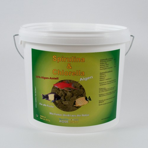 3 pieces Spirulina Algae-Flocke 5000 ml bucket