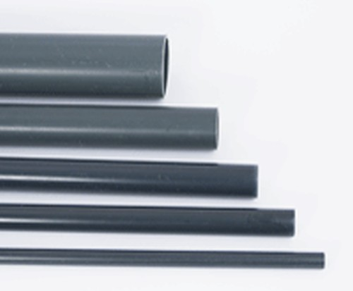 PVC pressure pipe / m Ø 40 mm grey