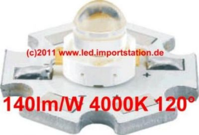 High Efficiency HJ Power LED 1W 4000K 140lm