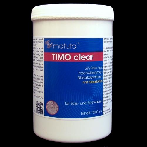 TIMO clear 1000 ml, incl. Dosing spoon, Round box