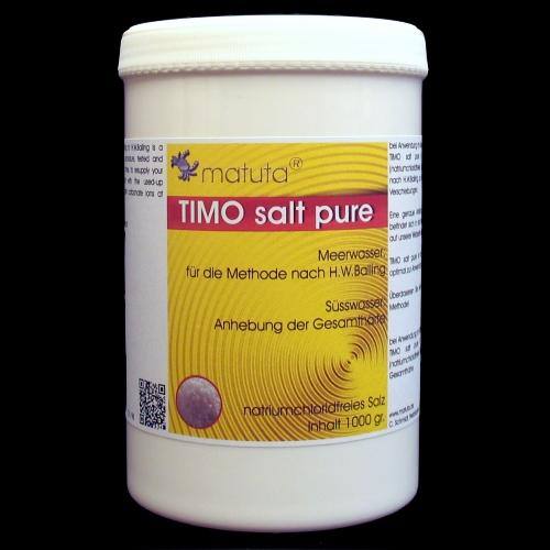 TIMO salt pure 1000 g, Round box