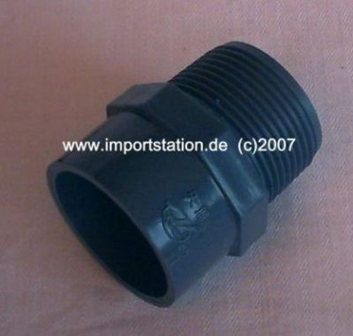 PVC Fitting Reduktion lang 25mm Aussengew. 3/4'
