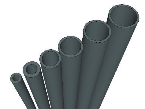 PVC-U Rohr Druckrohr AD 10 mm x WS 1,0 mm 1m Stück